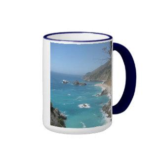 Costa Sur grande de California Taza A Dos Colores