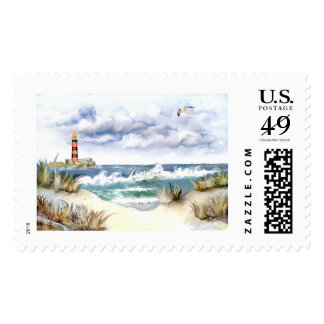 """Costa y faro"" Stamps"