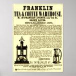 """""""Costado 1853 del té y del café de Franklin del vi Poster"""