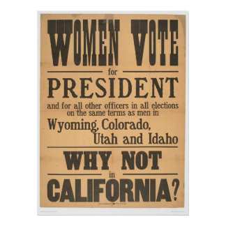 Costado del voto de las mujeres 1873A Impresiones