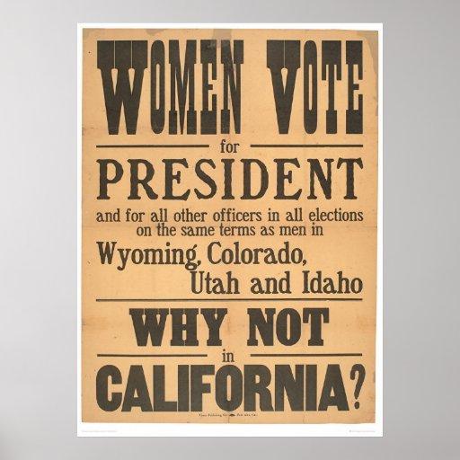 Costado del voto de las mujeres (1873A) Póster