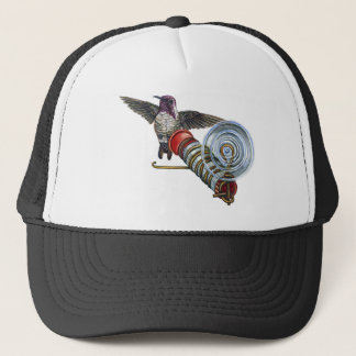 Costas Hummingbird at the Bird Feeder Trucker Hat