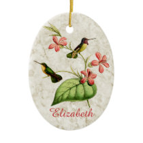 Costa's Hummingbird Ceramic Ornament