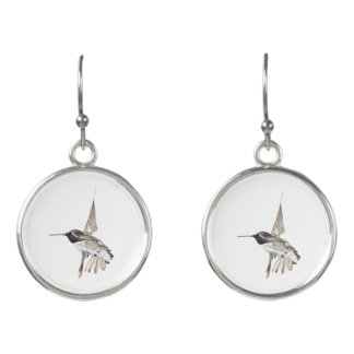 Costa's Hummingbird earrings