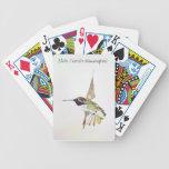 Costa's Hummingbird Playing Cards