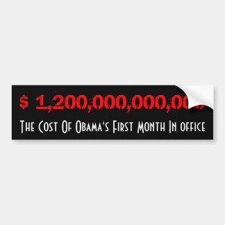 Coste de Obama Pegatina Para Auto