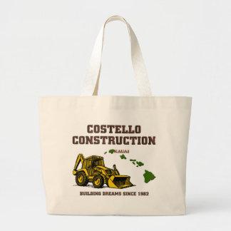 Costello Construction Kauai Large Tote Bag