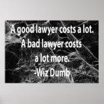 Costes buenos de un abogado posters