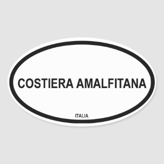 COSTIERA AMALFITANA OVAL STICKER