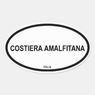COSTIERA AMALFITANA CALCOMANÍAS OVALADAS PERSONALIZADAS