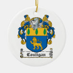 Costigan Family Crest Christmas Tree Ornaments