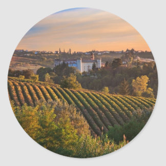 Costilgiole d'Asti, Piedmont, Italy Classic Round Sticker