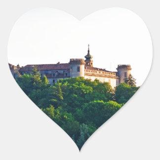 Costilgiole d'Asti, Piedmont, Italy Heart Sticker