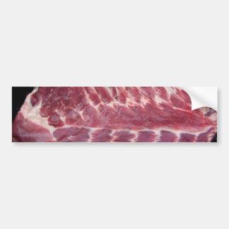 Costillas de cerdo pegatina de parachoque