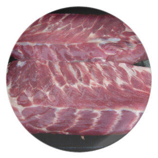 Costillas de cerdo plato de cena