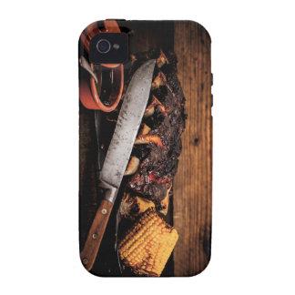 Costillas y maíz de carne de vaca de Barbequed iPhone 4/4S Carcasas
