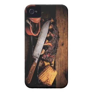 Costillas y maíz de carne de vaca de Barbequed Case-Mate iPhone 4 Cárcasa