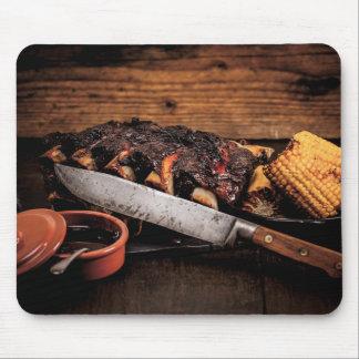 Costillas y maíz de carne de vaca de Barbequed Alfombrilla De Ratones