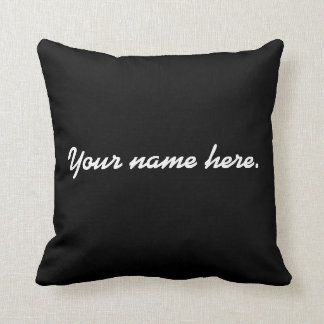 Costomized name pillow. throw pillow