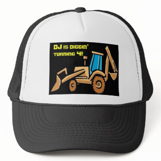 costruction tractor birthday trucker hat