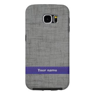 Costum Grey/Blue Leather Samsung Galaxy S6 Case