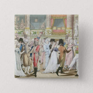 Costume Ball at the Opera, after 1800 Pinback Button