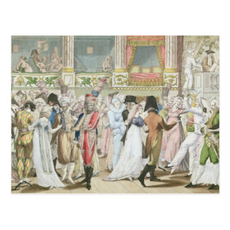 Costume Ball at the Opera, after 1800 Postcard