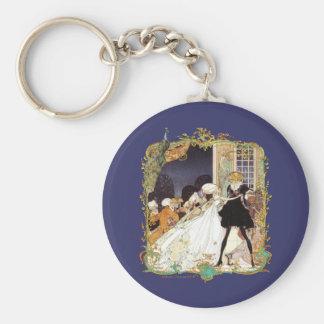 Costume Ball Vintage Style Art Design Basic Round Button Keychain