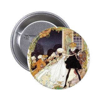 Costume Ball Vintage Style Art Design Button Pin