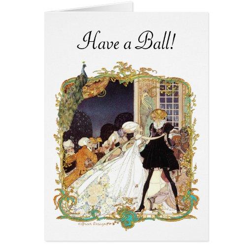 Costume Ball Vintage Style Art Design Card