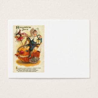 Costume Boy Jack O' Lantern Pumpkin Apple Business Card