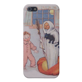 Costume Boy Jack O' Lantern Pumpkin Black Cat iPhone SE/5/5s Case