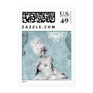 Costume Chandelier Blue Postage Stamps