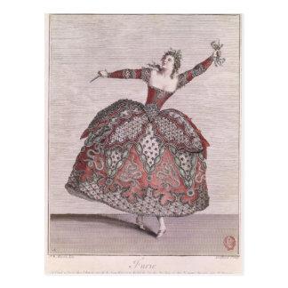 Costume design a Fury in 'Hippolyte et Aricie' Postcard