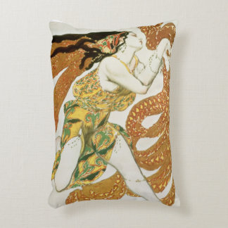 Costume design for a bacchante in 'Narcisse' 3 Decorative Pillow