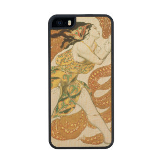 Costume design for a bacchante in 'Narcisse' 3 Wood Phone Case For iPhone SE/5/5s