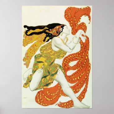 bridgemanimages Costume design for a bacchante in 'Narcisse' Poster