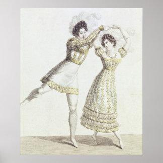 Costume design for a ballet poster