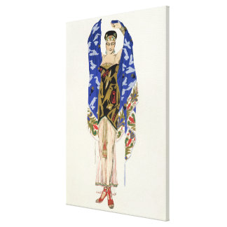 Costume design for a Dancing Girl (colour litho) Stretched Canvas Print