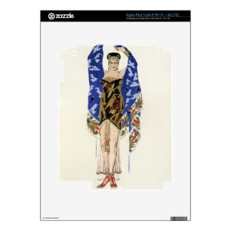 Costume design for a Dancing Girl (colour litho) iPad 3 Decal