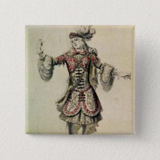 Costume design for a male dancer, c.1681 button