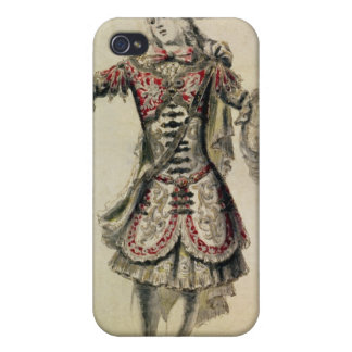 Costume design for a male dancer, c.1681 iPhone 4 cases