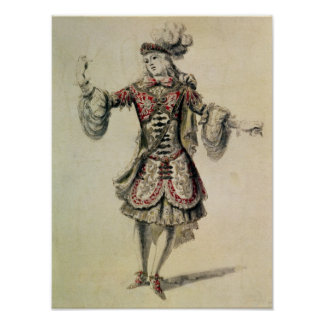 Costume design for a male dancer, c.1681 poster