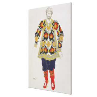 Costume design for a man, from Sadko, 1917 (colour Canvas Prints