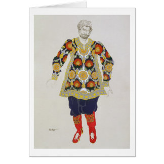 Costume design for a man, from Sadko, 1917 (colour Greeting Card