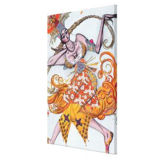 Costume design for a pas de deux danced at the ope stretched canvas prints