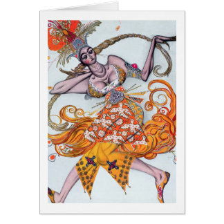 Costume design for a pas de deux danced at the ope greeting card