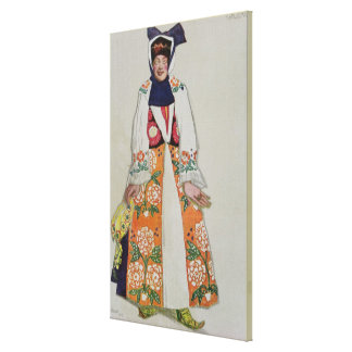 Costume design for a peasant woman, from Sadko, 19 Gallery Wrap Canvas