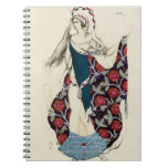Costume design for a woman, from Judith, 1922 (col Spiral Notebook