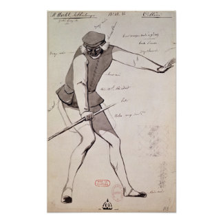 Costume design for an Acrobat Poster